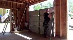 9x8 garage door install