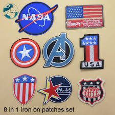 Designer Iron On Patches 8 Mixed Designs Iron On Patches Set Diy Appliques Set
