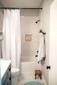 white subway tile bathroom full size of with shower in bathtub and black grout
