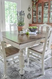 antique dining table updated with chalk paint painted round kitchen table