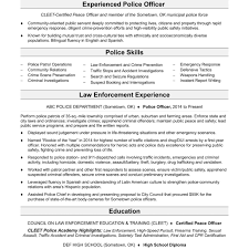 Police Officer Resume Examples Resume Template Federal Law Enforcement Samples Format Cover 31