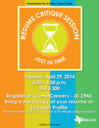 Just In Time Resume Critiques And Expo Utd Career Center Bits