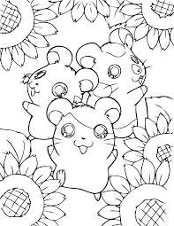 Coloriage Animaux A Imprimer Coloriage De Hamster Mignon