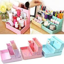 diy makeup organizer cardboard. paper board storage box desk decor diy stationery makeup cosmetic organizer new diy cardboard