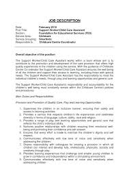 day care responsibilities resume child care cover letter child care resume  child daycare assistant child care