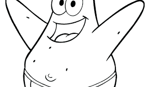 Patrick Star Coloring Page Star Coloring Pages Image Patrick Star