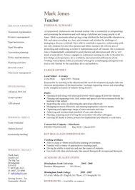 Teaching Resume Templates Custom Teaching CV Template Job Description Teachers At School CV