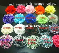 "<b>2</b>"" Tulle Flowers <b>19Colors Mini</b> Satin Mesh Flowers Without ..."