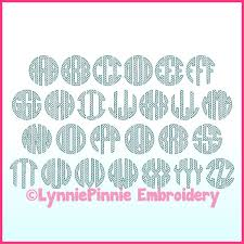 Lynnie Pinnie Embroidery Designs Mermaid Monogram Circle Scale Motif Sketch Embroidery