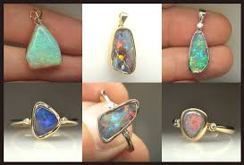 captivating solid opal jewellery