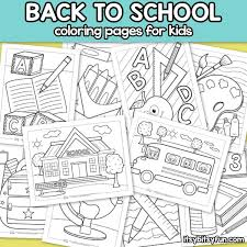 Fun & easy to print. Back To School Coloring Pages For Kids Itsybitsyfun Com