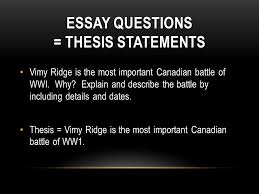 ww chapter test essay ppt video online 10 essay questions thesis statements vimy ridge