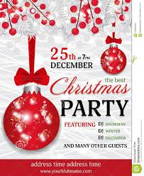 Template For Christmas Party Invitation Christmas Party Invitation Template Background With Fir White Br