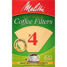 Melitta Cone Coffee Filters Natural Brown 4 100 Count