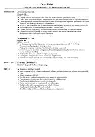 Qa Tester Resume Sample Junior QA Tester Resume Samples Velvet Jobs 56