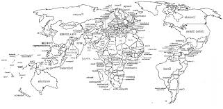 World Map Black And White Printable With Countries Vector World Map With Countries Labeled Arenawp