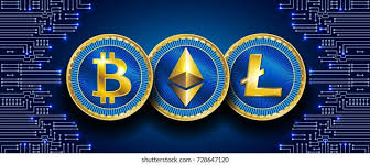 Bitcoin, which originated in 2009, is the dominant brand; Virtual Symbols Coin Bitcoin Litecoin Ethereum Stock Vector Royalty Free 728647120