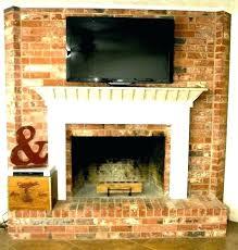 mount tv to brick fireplace post hanging flat screen tv on brick fireplace