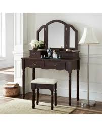 elegant makeup table. Fineboard Elegant Vanity Dressing Table Set Makeup With 3 Mirrors And Stool, 4 R