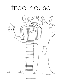 Small Picture tree house Coloring Page Twisty Noodle