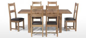oak dining table and chairs. Rustic Oak 132-198 Cm Extending Dining Table And 6 Chairs O