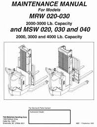 yale stacker type mrw020 mrw030 msw020 msw030 msw040 workshop original illustrated factory workshop service manual for yale stacker type mrw msw original factory