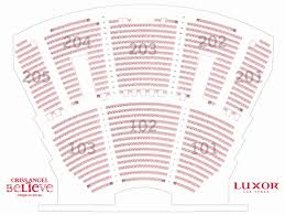 Luxor Seating Chart Mindfreak Complete Luxor Show Seating Chart Best Seats At Luxor Theater