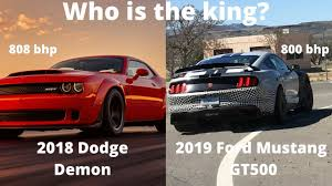 2018 ford viper. simple ford 2018 dodge demon vs 2019 ford mustang gt500 throughout ford viper