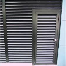 Louvered Exterior Doors Metal Examples Ideas U0026 Pictures  Megarct Aluminum Louvered Exterior Doors