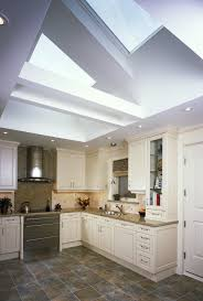 Decorations  Kitchen Dining Room With Modern Skylight In Natural - Kitchen and dining room lighting ideas