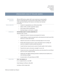 Sales Analyst Resume Crm Business Analyst Resume Template And Job Descriptions