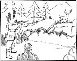 Small Picture Free Printable Hunting Coloring Pages For Kids