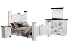 Ivan Smith MANSION AGED WHITE QUEEN BEDROOM SET