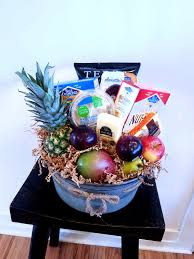 organic fruit and gourmet cheese gift basket