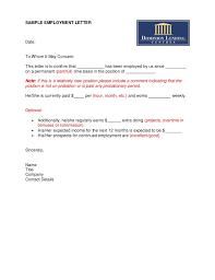 Letter Of Employment Template Sadamatsu Hp