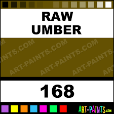 Umber Color Chart Raw Umber Artist Acrylic Paints 168 Raw Umber Paint Raw