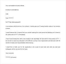Formal Resignation Letter Employee Resignation Letter Employee ...