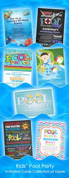 Pool Party Invitations - Swimming Pool Birthday Party - Swimming ...