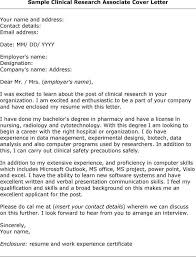 Sample Research Cover Letter Cover Letter For Research Position Project Scope Template