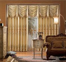 Types Of Curtains For Living Room Living Room Beautiful Living Room Curtain With Brown Drapery And