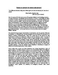 nature or nurture essay essays college application essays nature vs nurture debate essay