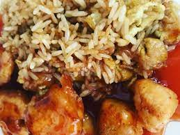 Chinese sweet and sour chicken with egg fried rice | Recipe