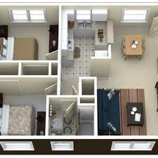 3 Bedroom Apartments For Rent 3d 1 Bedroom Apartment Floor Plans Bath  Apartment In Royal Oak