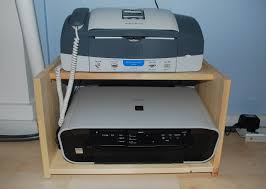 Printer stand ikea Rast Bedside Printer Machine And Fax Machine Are Set On Wood Desk Homesfeed Printer Stand Ikea Smart Solution To Organize Your Printer