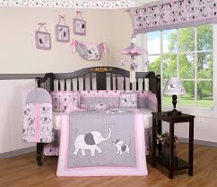 elephant nursery bedding 3 com boutique baby pink gray