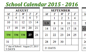 School Calendar 2015 16 Printable Calendar 2015 16 Kadil Carpentersdaughter Co