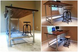 amazing standing desk plans within ana white leaning diy projects