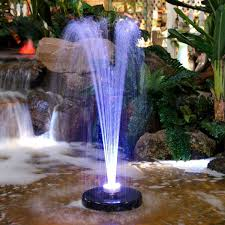 Fountain Pump With Led Light Amazon Com Alpine Corporation Floating Spray Fountain Pump