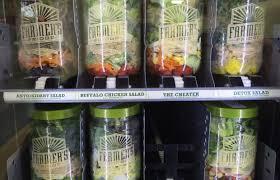 Fresh Food Vending Machine Unique Farmer's Fridge Kiosk Offers Fresh Food On The Go