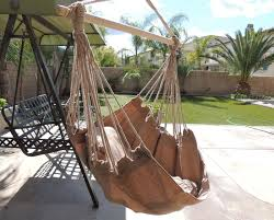 com hammock chair hanging rope chair porch swing outdoor chairs lounge camp seat at patio lawn garden backyard tan garden outdoor